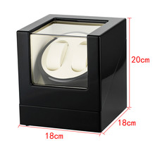 18*18*20 cm Automatic Mechanical Watch Winding Box Silent 2+0   Holders Motor Case US/UK/AU/EU Plug Winder Storage Boxes luxury automatic watch winding box single holder silent motor storage box winder case for mechanical self wind clocks with plug