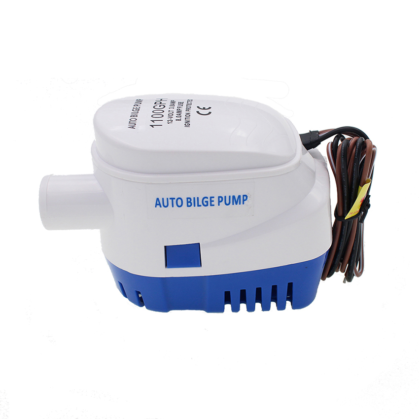DC Automatic Bilge Water Pump 12V/24V 1100GPH For Submersible Auto Pump With Float Switch Sea Boat Marine Bait Tank Fish