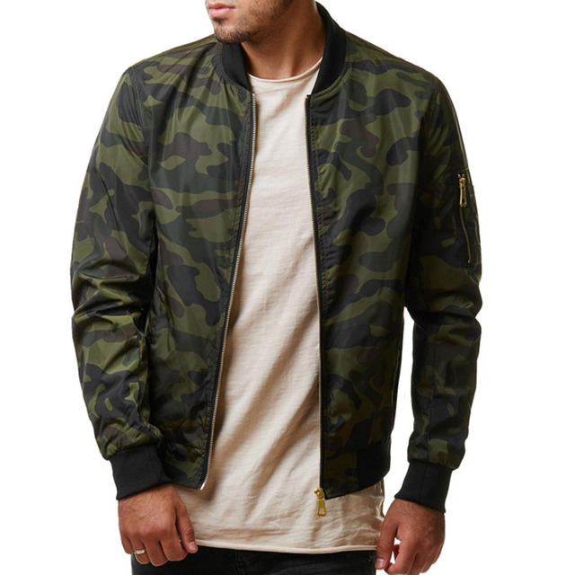 2019 Autumn Casual Men's Camo Jacket Army Military Jacket Camouflage Jacket Men Coats Male Outerwear Overcoat Plus Size 4XL