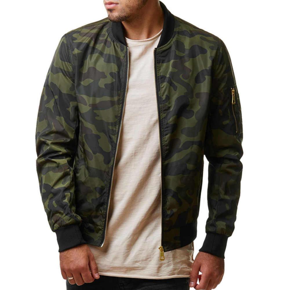 2019 осень Повседневное Для мужчин камуфляж военная куртка камуфляж куртки мужские пальто мужской верхней одежды пальто плюс Размеры 4XL