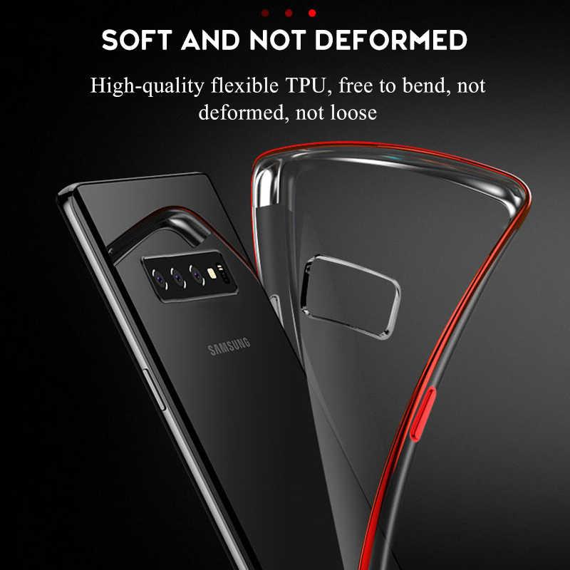 Новый прозрачный чехол для samsung Galaxy S8 S9 Plus S10 S10 + S10e, мягкий тонкий силиконовый чехол из ТПУ для samsung S7 S6 Edge