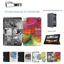 Ultra Slim PU Leather Left Right Brain Painted Skin Cover Case For Acer Iconia One 10 B3-A30 A3-A40 10.1 inch Tablet Stand Case
