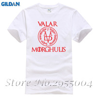 New Valar Morghulis T Shirts Summer Style Short Sleeve Game Of Thrones Men T Shirts A