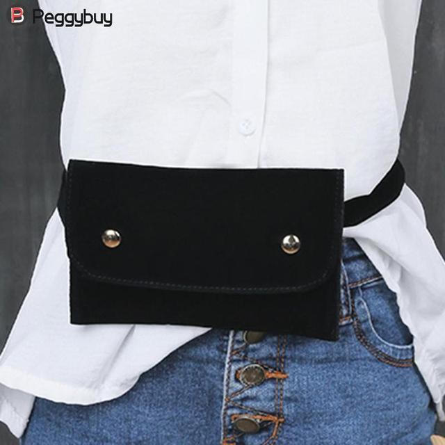 3ede5423a549 US $3.17 33% OFF|Fashion Waist Bag Women Velour Waist Fanny Pack for Women  Retro Velvet Hip Bum Belt Bag Chest Pouch Handbags brusttasche-in Waist ...