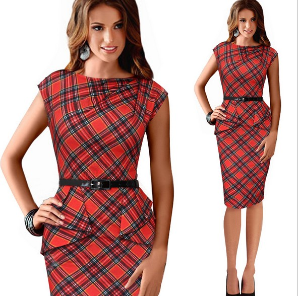 Online Buy Wholesale Red Tartan Dress From China Red