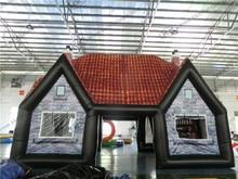 Гигантские ourdoor палатка две двери ирландский паб стол надувной бар палатка надувные паб-клуб