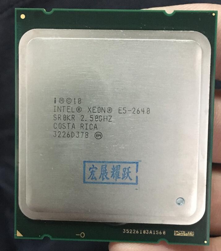 Processeur intel xeon E5-2640 E5 2640 Six Core C2 processeur d'ordinateur de bureau 100% travail normal CPU 2.5 LGA 2011 SROKR