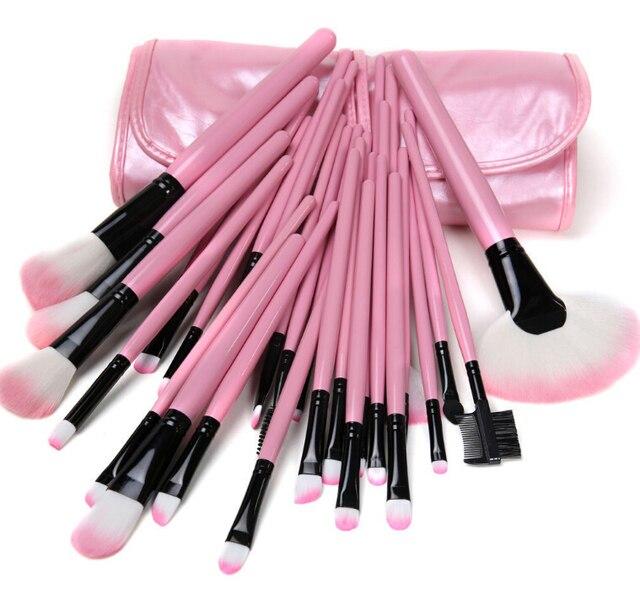 Chegada nova Rosa Professional 32 Pcs Marca de Maquiagem Jogo de Escova 32 pcs Make up Brushes Styling Tools Com Saco Bolsa caso