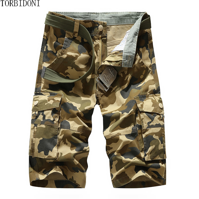 Fashion Casual Cargo Shorts Men Brand Camouflage Trunks Man Board Shorts Mens Multi Pockets Male Cool Summer Jogger Homme Short