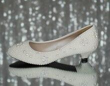 Handgemachten perle strass Hochzeit Schuhe brautjungfern verheiratet Schuhe Weißen hochhackigen süße prinzessin Pumpen Kostenloser Versand party rot