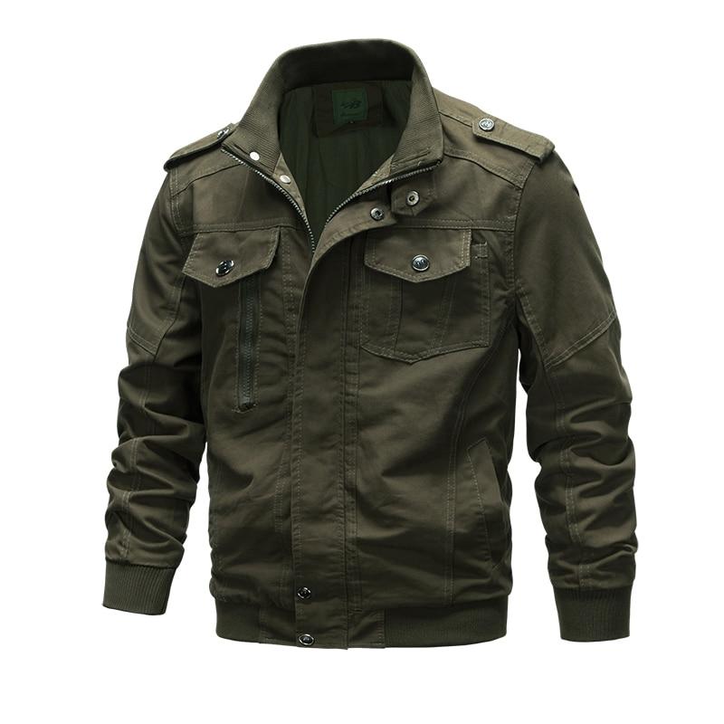 Black Army Khaki 3 colors Plus Size 6XL High Quality Autumn Men Bomber Jackets Military Jackets