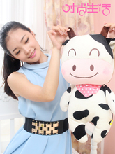 lovely cartoon cow plush toy large 50cm dairy cow soft doll, throw pillow toy birthday present Xmas gift c855