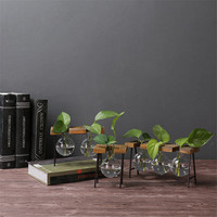 Water Planting Ornaments American Country Decoration Craft Clothing Store Coffee Shop Decoration Solid Wood Iron Foot