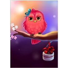 DIY 5D diamond painting cartoon animal angry bird cross stitch mosaic embroidery rhinestone decoration craft