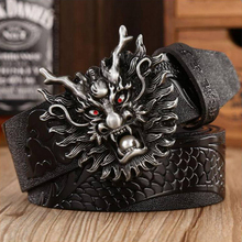 fashion genuine leather belts Hot Sale !!!  waistband for men  Pin Buckle  dragon buckle 3.7cm size:110-125cm
