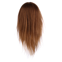 RF 18 Inch Professional Hairdressing Training Practice Styling Head Mannequin With Brown Hair For Hairdressers Training