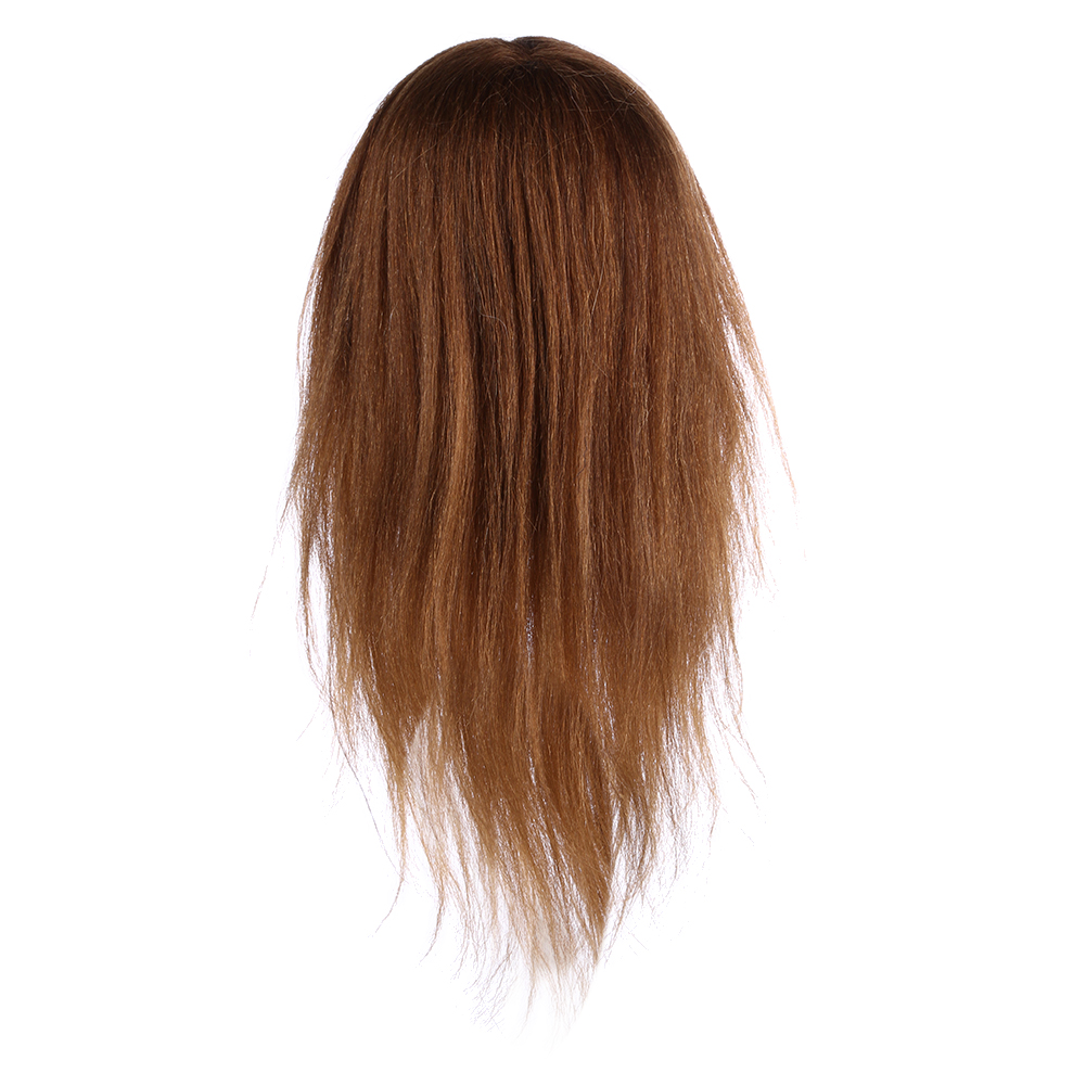 RF 18 pouces marron professionnel formation coiffure pratique coiffure tête Mannequin pour coiffure pratique tête