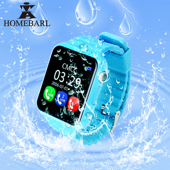 HOMEBARL Children Security Anti Lost GPS Tracker Waterproof Smart Watch V7K 1.54'' Screen Camera Kid SOS Emergency Android IOS