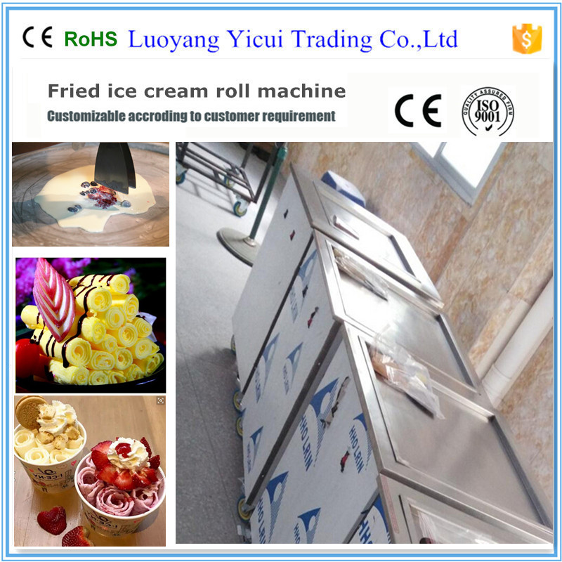 Thailand delicious rolled fried ice cream machine /single pan fry ice cream machine