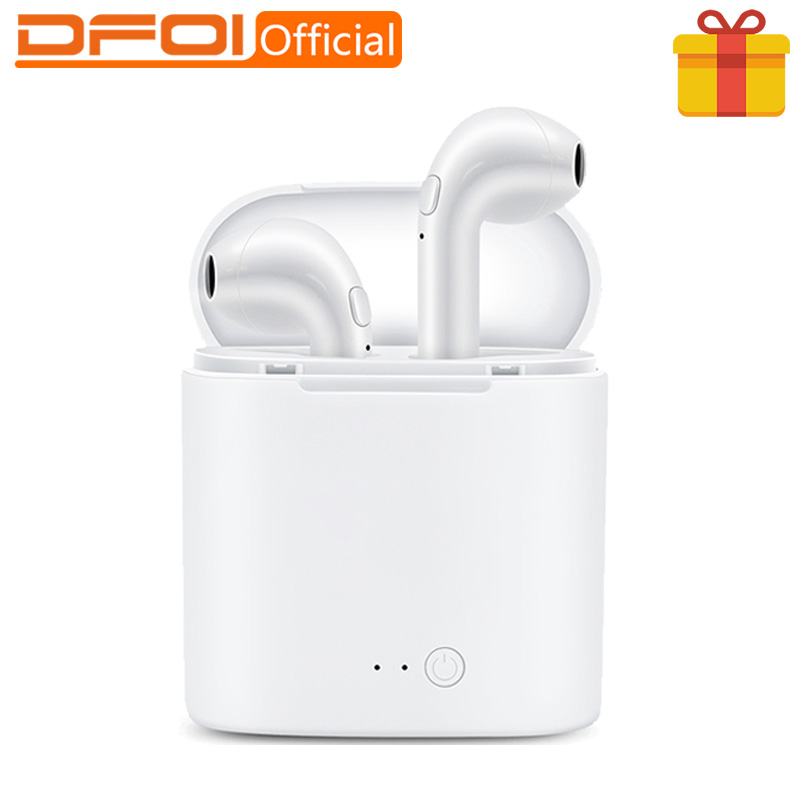 DFOI i7s Bluetooth Headphones Mini TWS Stereo Earphones Wireless Headphone Bluetooth Headset Sports Earphone FOR phone Xiaomi khp t6s bluetooth earphone headphone for iphone sony wireless headphone bluetooth headphones headset gaming cordless microphone