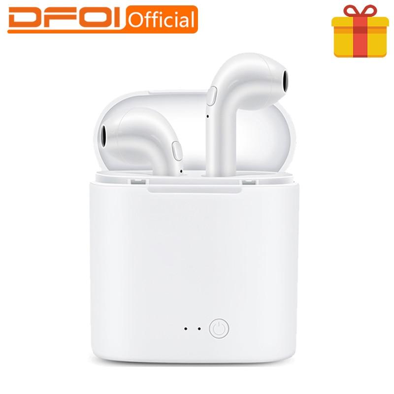 DFOI i7s Bluetooth Hoofdtelefoon Mini TWS Stereo Oortelefoon Draadloze Hoofdtelefoon Bluetooth Headset Sport Oortelefoon VOOR telefoon Xiaomi