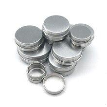 5 adet 5g/10g/15g/20g/30ml boş alüminyum kavanoz doldurulabilir kozmetik şişe merhem krem numune ambalajı kapları vidalı kapak