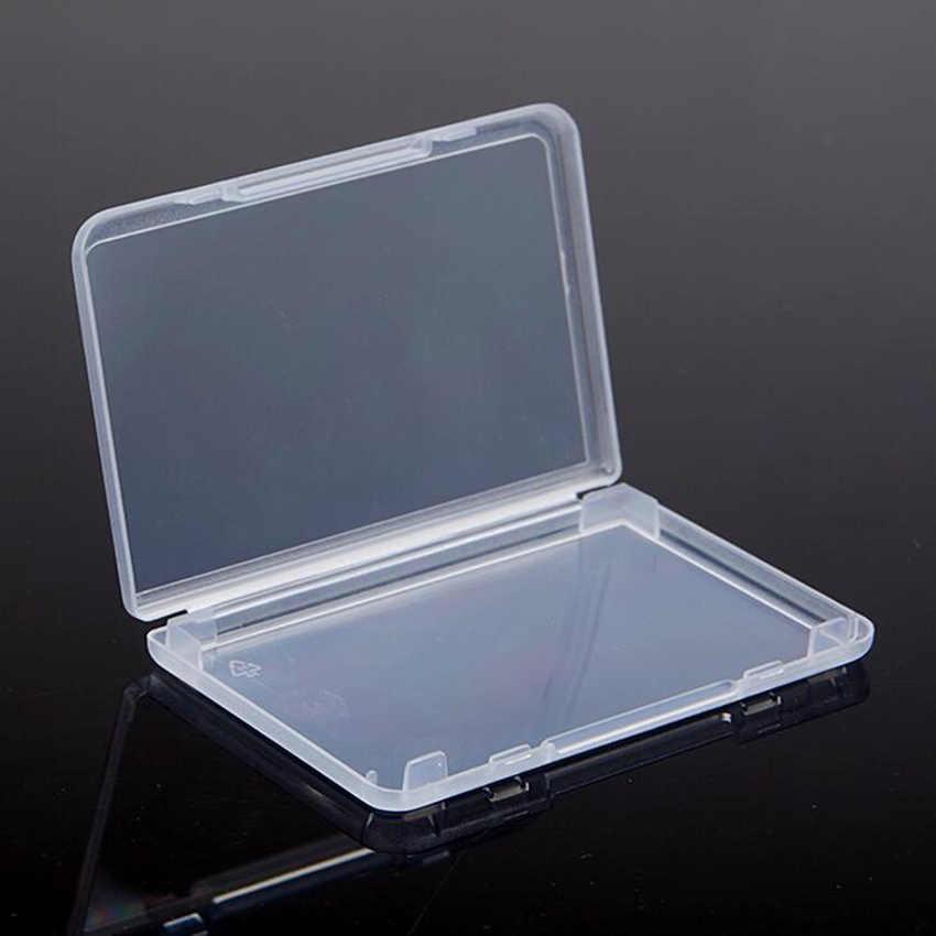 1pc portátil pequeno quadrado claro caixas de armazenamento de jóias de plástico contas caixa de artesanato recipientes 9.5*6.4*1cm