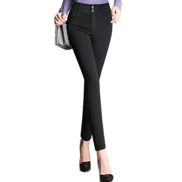 Nova chegada Calças mulheres Hot Plus Size 4XL Moda Estiramento OL Terno de calça Ocasional Ocidental-Estilo Calças Lápis Trabalho calças Mulheres
