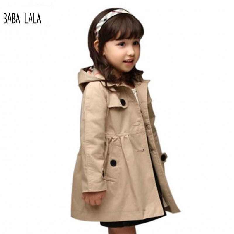 Girls Trench Coat With Hood | Down Coat