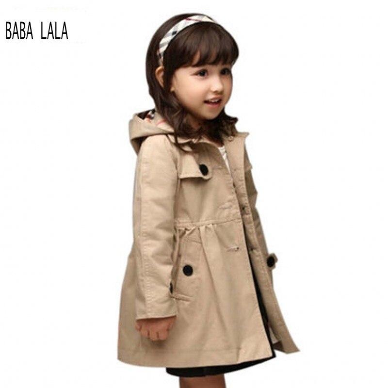 Aliexpress.com : Buy Kids Trench Coat Girls Hooded Trench Coat ...