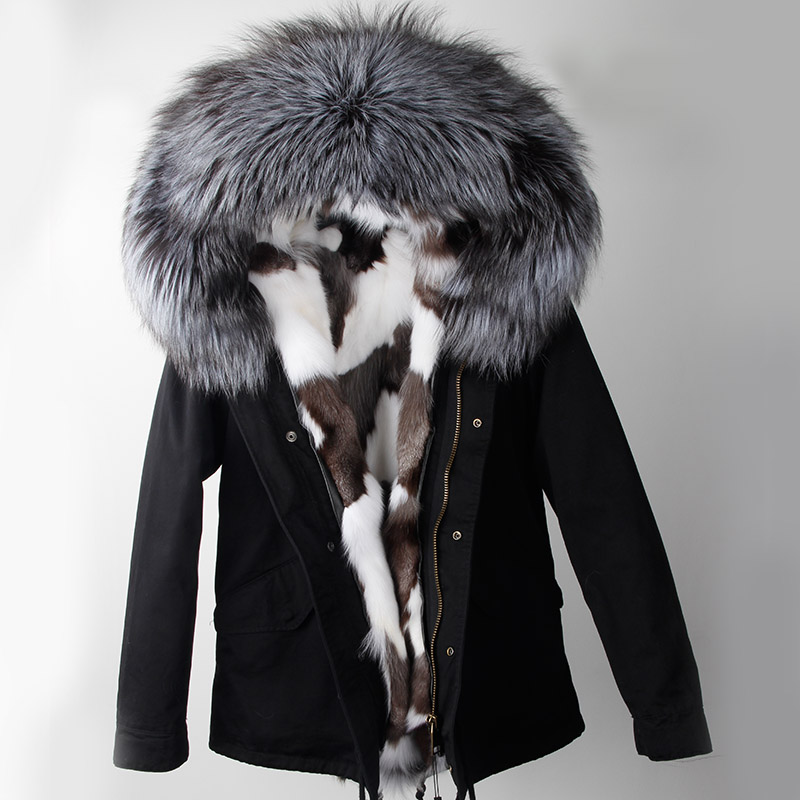 Winter Jacket 2017 Army Green Parka Coats Real Large Raccoon Fur Collar Fox Fur Lining Hooded Outwear Free DHL 5-7 kohuijoos 3xl winter women army green large raccoon fur collar hooded coat warm detachable natural fox fur lining parka coats
