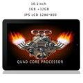Nuevo Diseño de 10.1 Pulgadas 1280*800 IPS LCD tablet android quad core 1 GB y 32 GB tabletas WiFi de Doble Cámara de HDMI USB ranura