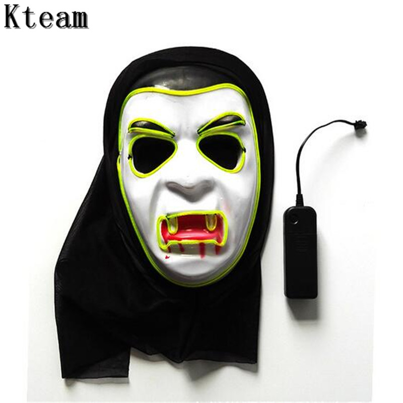 14c15a2776f US $27.89 7% OFF|2017 New vampire face mask Big devil shape PVC glowing  masks Halloween intimidation Dracula mask party decorating Led masks  Toys-in ...