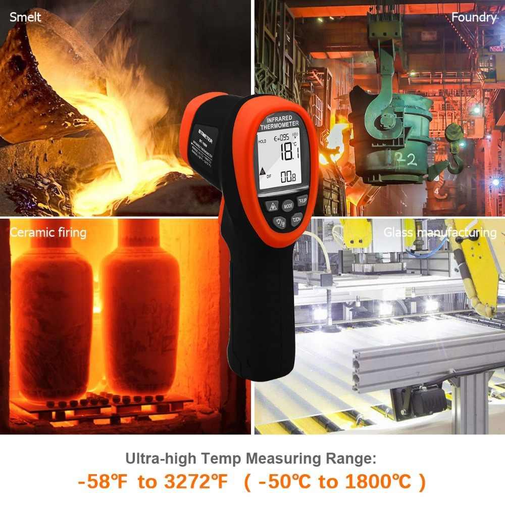 BTMETER, BT-1800 High temperature Infrared Thermometer handheld  gun,-50'C--1800'C,High Temp Tester with Backlit Flashlight