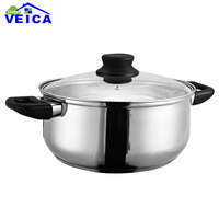 24cm High Quality Stainless Steel Cooking Pot Thick Stainless Steel Pots Cooker Special Pot Hot Pot Ruled