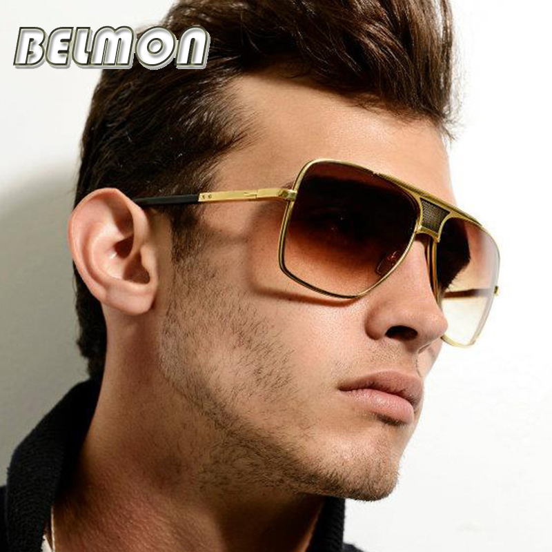 Fashion Sunglasses Men Luxury Brand Designer Big Frame Sun Glasses Women For Male Classic Female Photochromic UV400  RS180