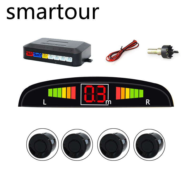 Smartour Parking Location Car Auto Parktronic with 4 Sensor Reverse Ultrasonic Radar Detection Standby Radar Monitoring System(China)