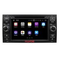 KLYDE 2 Din 7 автомобильный мультимедийный плеер Android 7,1 для Ford Focus 2005 2007 автомобилей Радио Стерео DVD плеер 4 ядра 1024*600 Wifi