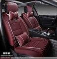 Para hyundai ix35 tucson 2016 solaris accent preto à prova d' água macia pu assento de carro de couro cobre marca dianteiro & traseiro tampa de assento completo