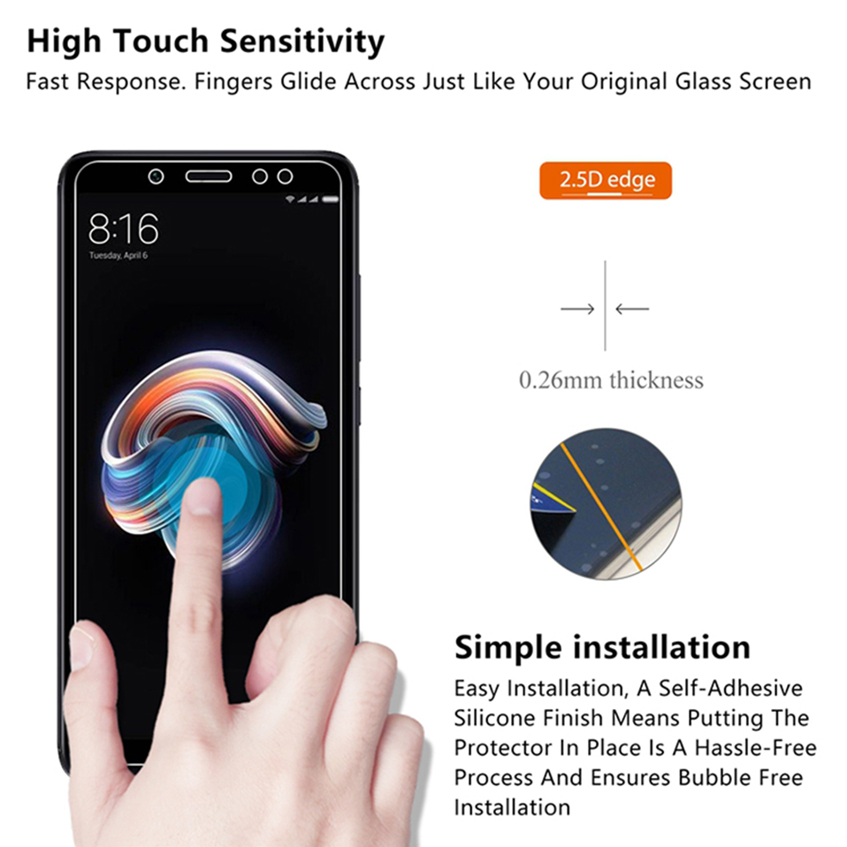screen protector tempered glass for xiaomi redmi 6 6A Note 5 6 pro 7 redmi 4a 5a 6a 4x   (5)
