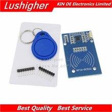 10 Uds MFRC 522 RC 522 para S50 RC522 inalámbrica circuito RFID Fudan MFRC522 SPI escritor lector tarjeta llave cadena Kits Sensor 13,56 Mhz