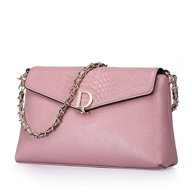 2017 Fashion Women Lady Genuine Leathe Chain Serpentine Letter D Designer Handbags Saddle Shoulder Bag Crossbody Messenger Bags