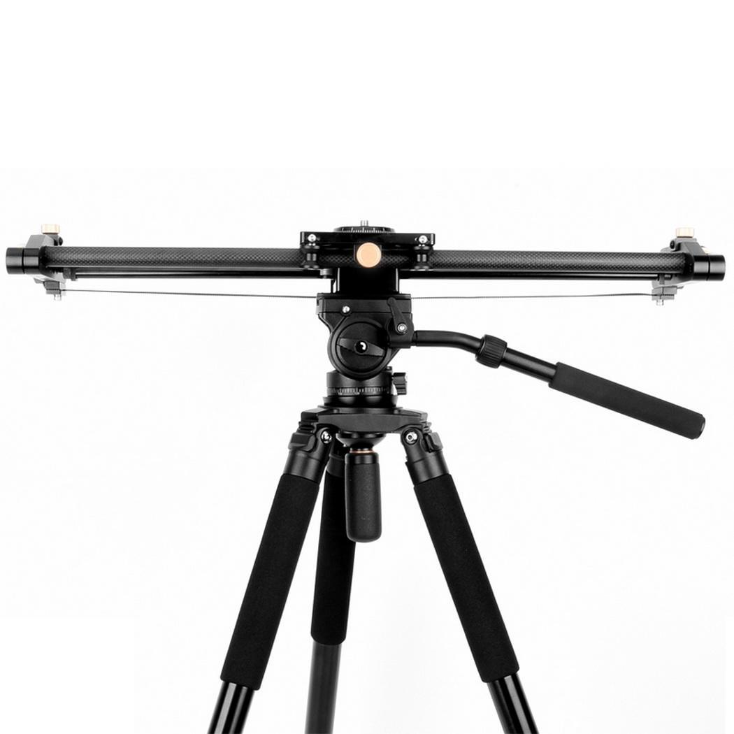 Portatile Pieghevole Telescopica Guida di Scorrimento Fotografia Professionale 730 millimetri Treppiedi di Macchina Fotografica Fotografia, Punto Fisso - 3