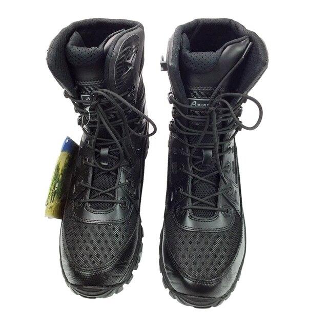 Бесплатная Доставка New Натуральной Кожи Тактические Ботинки Легкие Военные Desert Combat Сапоги Обувь Летние Дышащая Обувь