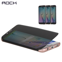 Rock Dr.V Smart Phone Case Full Screen Transparent View Flip Cover Case for Samsung Galaxys S7 Edge SM-G935A Case Cover