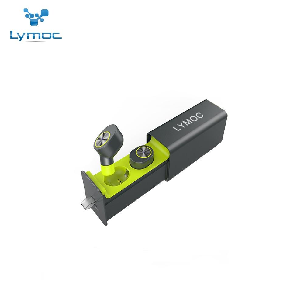 LYMOC GW10 Tiroir Type Métal Chargeur Boîte TWS Sans Fil Casque Bluetooth V4.2 Mini Écouteurs Écouteurs Stéréo HD MIC pour iPhone