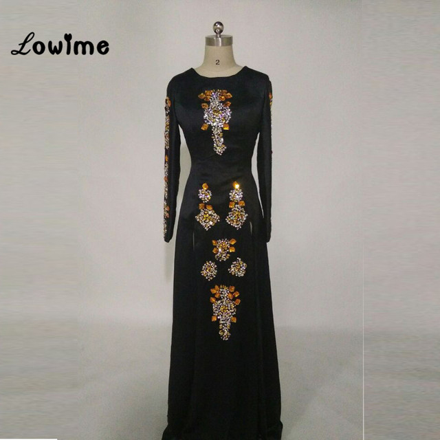 Sexy Burgundy Long Sleeve Black Gold Mermaid Prom Dress High Slit ...