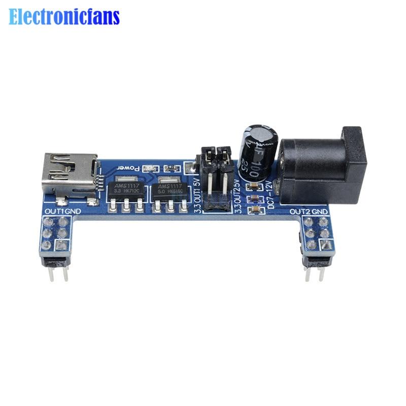 5PCS MB102 Breadboard Power Supply Module 3.3V 5V Solderless Arduino mini usb