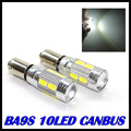 1pcs/Lot Canbus ba9s led bulb 5630 5730 smd car Light Canbus T4W ba9s 10smd CAR LIGHT  Error Free White Light Bulb