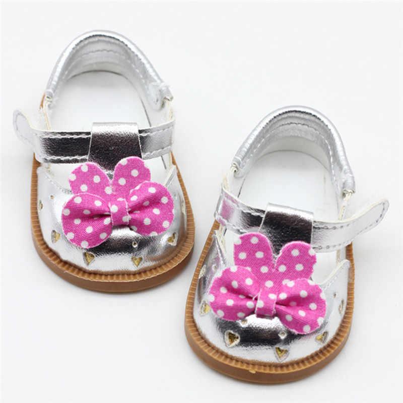 """Muñeca nueva 2019 zapatos para bebé recién nacido de 43 cm, zapatos con lentejuelas en blanco y negro para niñas de 18 """", zapatos para muñecas, accesorios para muñecas"""
